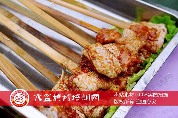 大竹签烤鸡中翅