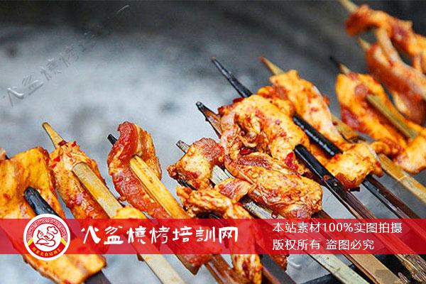 大竹签火盆烧烤