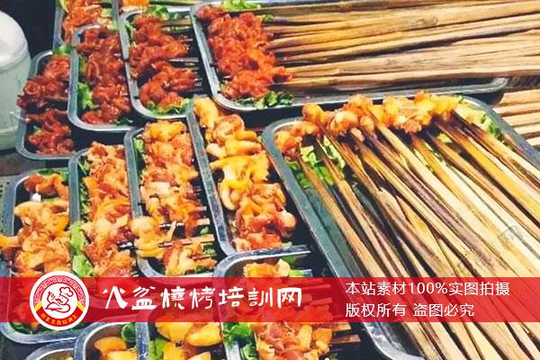 大竹签火盆烧烤菜品