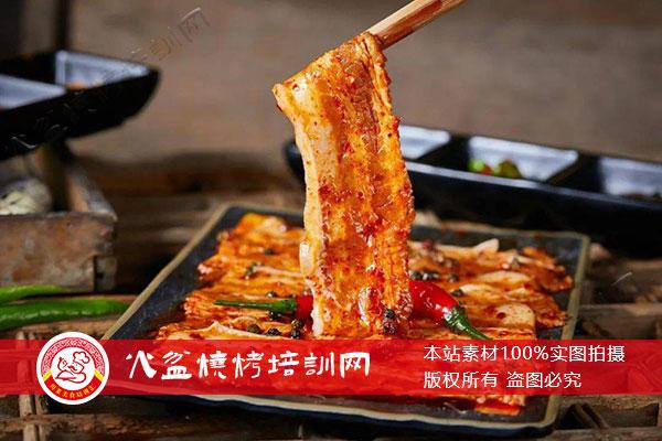 特色腌制待烤五花肉