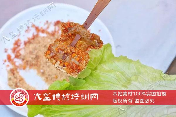 火盆烧烤五花肉包生菜