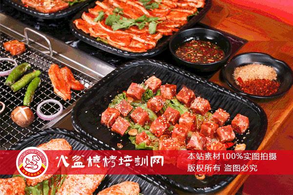 火盆烧烤菜品展示