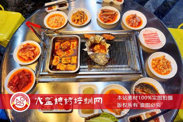火盆烧烤网烤菜品